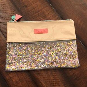 Benefit make up bag- glitter